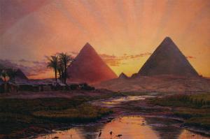 Pyramids at Gizeh by Thomas Seddon