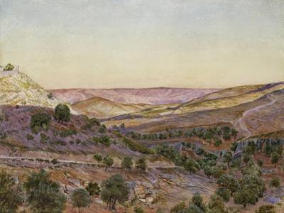 The Hills of Moab and the Valley of Hinnom, 1854 (Watercolour and Bodycolour)