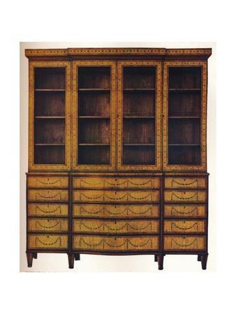 Sheraton Satinwood China Cabinet, 18th century, (1916). Artist: Thomas Sheraton