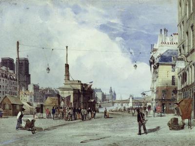 Quai De La Greve, Paris, in 1837