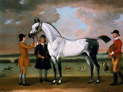 The Duke of Bolton's 'starling' with a Jockey and Groom at Newmarket, 1734
