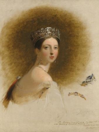 Portrait of Queen Victoria, 1838 by Thomas Sully