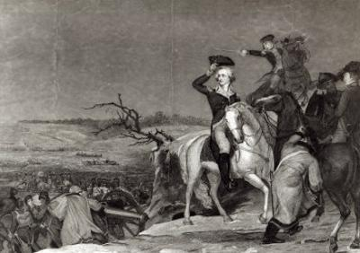 The Passage of the Delaware in 1776, Engraved by J.N. Gimbrede For 'The New York Mirror by Thomas Sully
