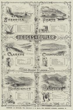 Advertisement, Hedges and Butler by Thomas Sulman