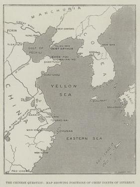 The Chinese Question, Map Showing Positions of Chief Points of Interest by Thomas Sulman