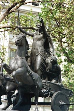 Statue of Boudicca and Her Daughters in a Chariot, Thames Embankment, London, 19th Century by Thomas Thornycroft