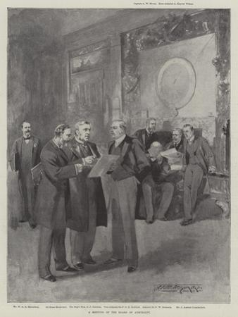 A Meeting of the Board of Admiralty by Thomas Walter Wilson