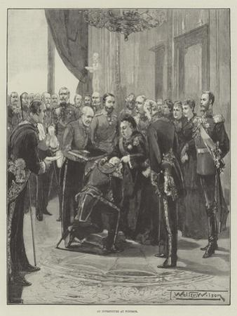 An Investiture at Windsor by Thomas Walter Wilson