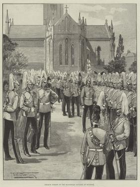Church Parade of the Household Cavalry at Windsor by Thomas Walter Wilson