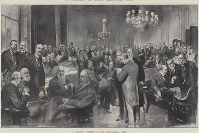 In Clubland, the Travellers' Club, a General Meeting of the Travellers' Club by Thomas Walter Wilson