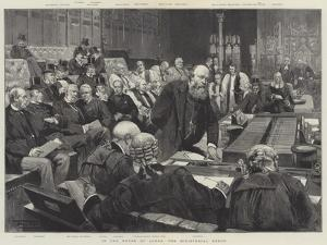 In the House of Lords, the Ministerial Bench by Thomas Walter Wilson