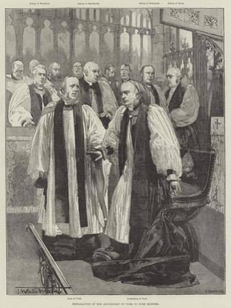 Installation of the Archbishop of York in York Minster by Thomas Walter Wilson