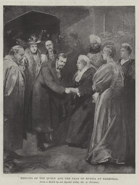 Meeting of the Queen and the Czar of Russia at Balmoral by Thomas Walter Wilson