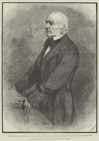 Mr Gladstone Speaking of Mr Bright in the House of Commons by Thomas Walter Wilson
