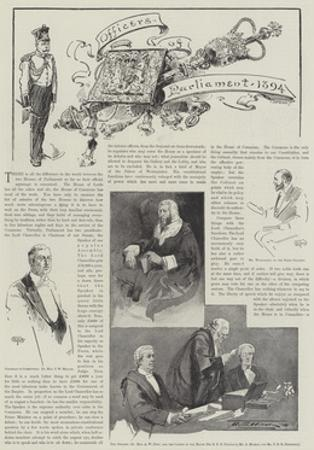 Officers of Parliament, 1894 by Thomas Walter Wilson