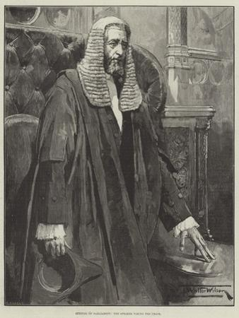 Opening of Parliament, the Speaker Taking the Chair by Thomas Walter Wilson