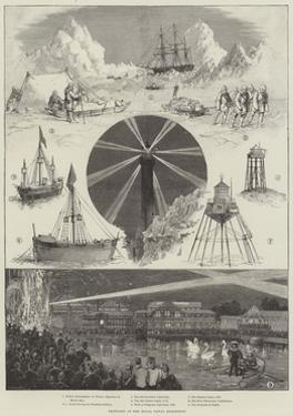 Sketches at the Royal Naval Exhibition by Thomas Walter Wilson