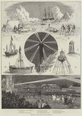 Sketches at the Royal Naval Exhibition by Thomas Walter Wilson