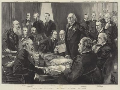 The New Ministry, the First Cabinet Council by Thomas Walter Wilson