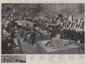 The Opening of Parliament by the King, 16 January by Thomas Walter Wilson
