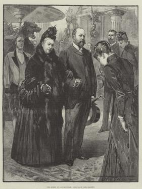 The Queen at Sandringham, Arrival of Her Majesty by Thomas Walter Wilson