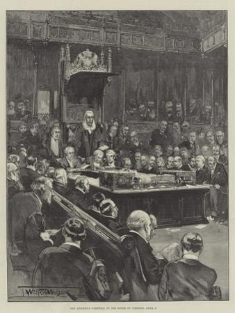 The Speaker's Farewell to the House of Commons, 8 April by Thomas Walter Wilson