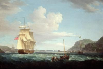A British Frigate with a Longboat Off the Headland of Gallows Hill, Broad Bay, Isle of Lewis