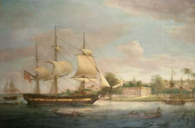 A Country Ship on the Hoogly Near Calcutta
