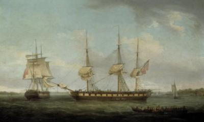 A Frigate of the Honourable East India Company in Two Positions off the Indian Coast