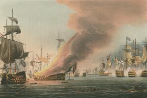 Battle of Trafalgar, 1805 by Thomas Whitcombe