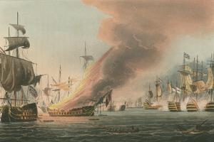 Battle of Trafalgar, 1805 by Thomas Whitcombe