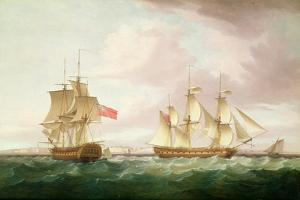 British Frigates Off Dover by Thomas Whitcombe