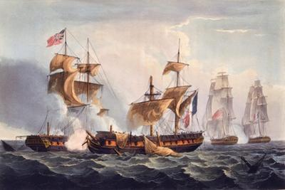 Capture of La Minerve, Print Made by Thomas Sutherland, from 'The Naval Achievements of Great…
