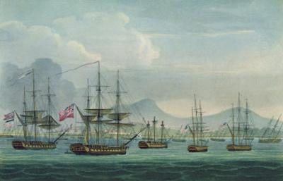 Capture of Maria Riggersbergen on October 18th, 1806 for 'The Naval Chronology of Great Britain'