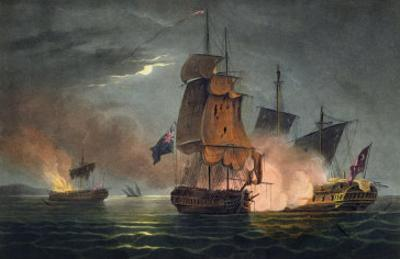 Capture of the Badere Zaffer, Naval Achievements of Great Britain Jenkins, c.1808