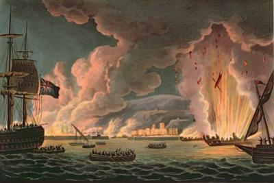 Destruction of the French Fleet at Toulon, 18th December 1793, Engraved by Thomas Sutherland…
