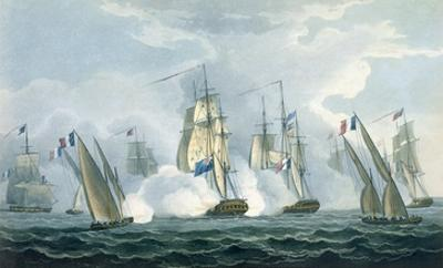 Hms Sirius, Captain Rowse Engaging a French Squadron Off the Mouth of the Tiber, 17th April, 1806