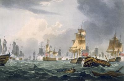 Lord Howe's Victory, 1st June 1794, Engraved by Thomas Sutherland