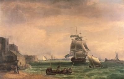 Men-O'-War and Small Craft at Portsmouth Harbour, Late 18th or Early 19th Century