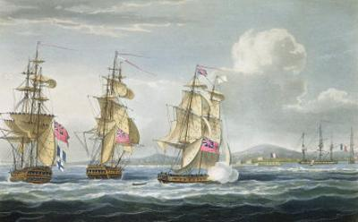Surrender of Tamatave, Engraved Sutherland, The Naval Chronology of Great Britain, c.1820