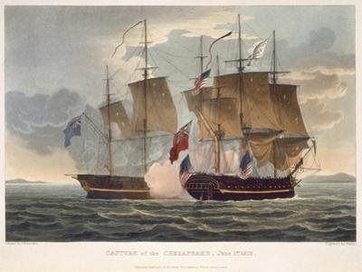 The Capture of Chesapeake, June 1st 1813, engraved by Bailey for J. Jenkins's 'Naval Achievements'
