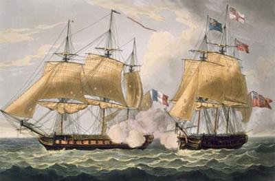 The Capture of La Clorinde, February 26th 1814, Engraved by Thomas Sutherland