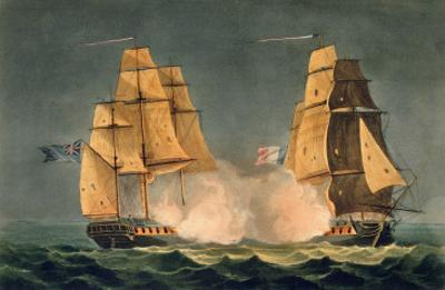 The Capture of La Nereide, December 21st 1797, Engraved by Thomas Sutherland