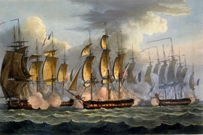 The Capture of La Prévoyante and La Raison, May 17th 1795, from 'The Naval Achievements of Great…