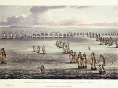 The Commencement of the Battle of Trafalgar, October 21st 1805, 1817