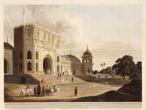 Gate of a Mosque Built by Hafiz Ramut, Pillibeat, 1825-1826 by Thomas & William Daniell