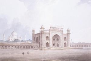 The Gateway of the Taj Mahal, Agra, Uttar Pradesh by Thomas & William Daniell