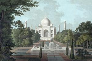 View of Taj Mahal, 1801 by Thomas & William Daniell
