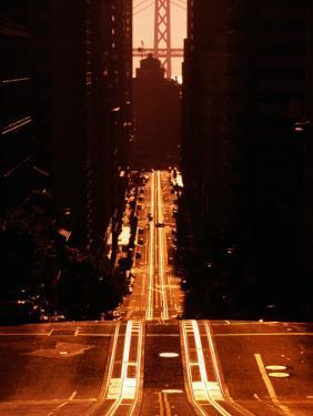 Cable Car Tracks on California Street, San Francisco, U.S.A. by Thomas Winz