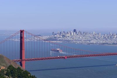 Container Ship Entering San Francisco Bay